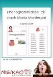 "Phonogrammdose ""ck"" nach Maria Montessori"