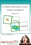 Schreib-Lese-Dose 3 nach Maria Montessori