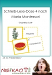 Schreib-Lese-Dose 4 nach Maria Montessori