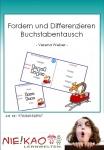Fordern und Differenzieren - Buchstabentausch