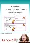 """Freiarbeit - Kartei """"Kuckuckseier - Wortfeldarbeit"""""""