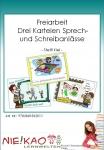 Freiarbeit - Drei Karteien Sprech- und Schreibanlässe