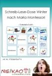 Schreib-Lese-Dose Winter nach Maria Montessori