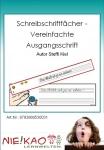 Schreibschriftfächer - Vereinfachte Ausgangsschrift
