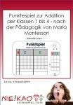 Punktespiel zur Addition der Klassen 1 bis 4 - nach der Pädagogik von Maria Montessori