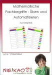 Mathematische Fachbegriffe - Üben und Automatisieren Einzel-CD