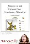 Förderung der Konzentration - Osterhasen Gitterrätsel