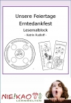 Unsere Feiertage - Erntedankfest Lesemalblock Einzel-CD