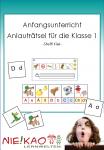 Anfangsunterricht - Schreiben lernen mit Anlauträtseln für die Klasse 1 Neuauflage