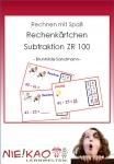 Rechnen mit Spaß - Rechenkärtchen Subtraktion im ZR 100