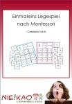 Einmaleins Legespiel nach Montessori