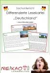 """Sachunterricht - Differenzierte Lesekartei """"Deutschland"""""""