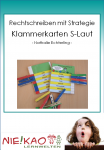 Rechtschreiben mit Strategie - Klammerkarten S-Laut download
