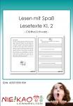 Lesen mit Spaß - Lesetexte Kl. 2 download