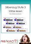 Der Silbenzug Stufe 3 - Sätze lesen