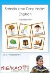 Schreib-Lese-Dose Herbst Englisch