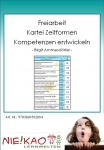 """Freiarbeit - Kartei """"Zeitformen"""" - Kompetenzen entwickeln"""