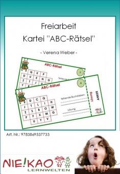 """Freiarbeit - Kartei """"ABC-Rätsel"""""""