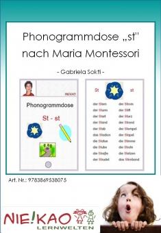 """Phonogrammdose """"st"""" nach Maria Montessori"""