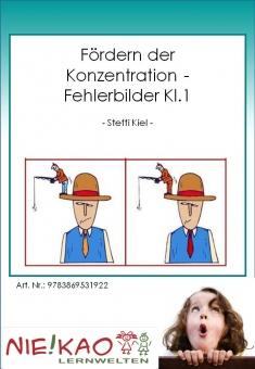 Fördern der Konzentration - Fehlerbilder Kl.1