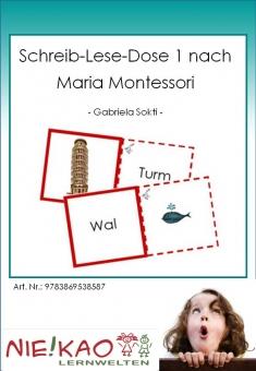 Schreib-Lese-Dose 1 nach Maria Montessori