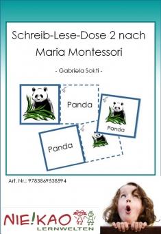 Schreib-Lese-Dose 2 nach Maria Montessori