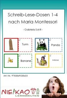 Schreib-Lese-Dosen 1-4 nach Maria Montessori