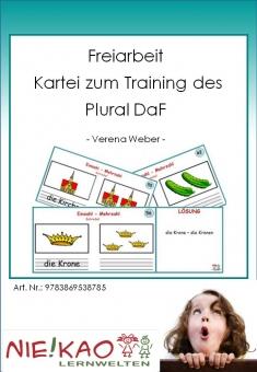 Freiarbeit - Kartei zum Training des Plural DaF