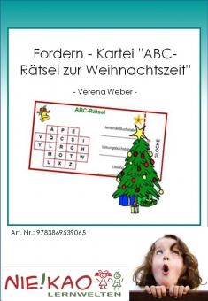 """Fordern - Kartei """"ABC-Rätsel zur Weihnachtszeit"""""""
