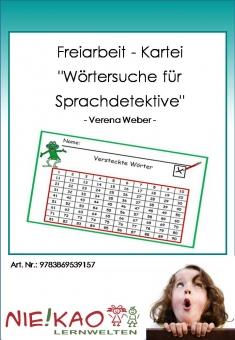 """Freiarbeit - Kartei """"Wörtersuche für Sprachdetektive"""""""
