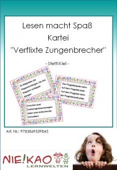 """Lesen macht Spaß - Kartei """"Verflixte Zungenbrecher"""""""