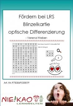 Fördern bei LRS - Blinzelkartei  opt. Differenzierung