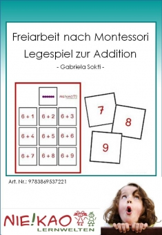 Freiarbeit nach Montessori - Legespiel zur Addition