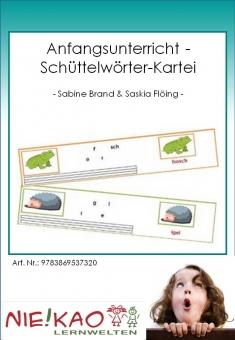 Anfangsunterricht - Schüttelwörter-Kartei