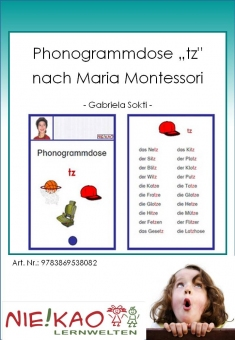 "Phonogrammdose ""tz"" nach Maria Montessori"