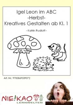 Igel Leon im ABC - Herbst - Kreatives Gestalten ab Kl. 1