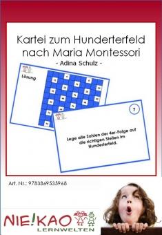 Kartei zum Hunderterfeld nach Maria Montessori