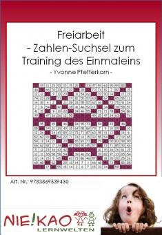 Freiarbeit - Zahlen-Suchsel zum Training des Einmaleins