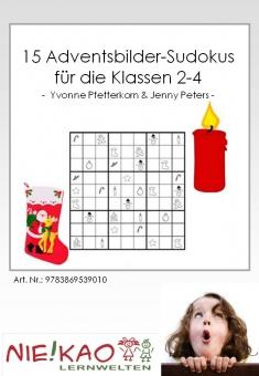 15 Adventsbilder-Sudokus für die Klassen 2-4 Einzel-CD