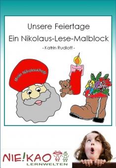 Unsere Feiertage - Ein Nikolaus-Lese-Malblock