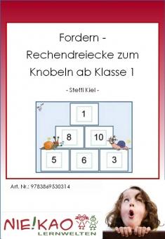Fordern - Rechendreiecke zum Knobeln ab Kl. 1-2