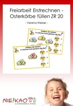Freiarbeit Erstrechnen - Osterkörbe füllen ZR 20