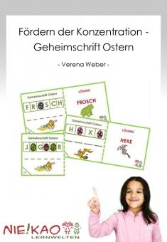 Fördern der Konzentration - Geheimschrift Ostern