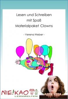 Lesen und Schreiben mit Spaß - Materialpaket Clowns