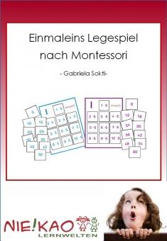 Einmaleins Legespiel nach Montessori Einzel-CD
