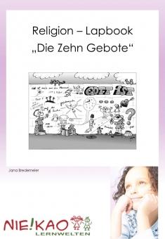 """Religion – Lapbook (Faltbuch) """"Die Zehn Gebote"""""""