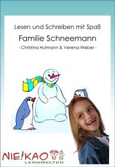 Lesen und Schreiben mit Spaß - Familie Schneemann