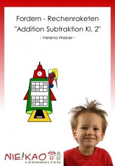 """Fordern - Rechenraketen """"Addition Subtraktion Kl. 2"""""""
