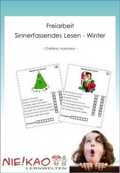 Freiarbeit - Sinnerfassendes Lesen Winter