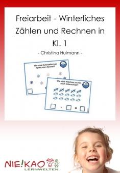 Freiarbeit - Winterliches Zählen und Rechnen in Kl. 1